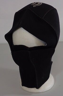 Namron Black Stretch 3mm & 7mm Neoprene Size Medium Hood Balaclava for Diving
