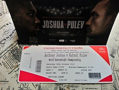 Anthony Joshua vs Kubrat Pulev Tickets