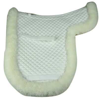 Top Quality Merino Australian Sheepskin Dressage saddle pad numnah Good