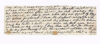c1768 | Anna SEWARD | poet | part letter ALS SIGNED | 'blamable impetuosity""
