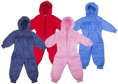 Boys/Girls Baby Toddler Padded Hooded Snowsuit Ski Suit 6 Months to 2 Years