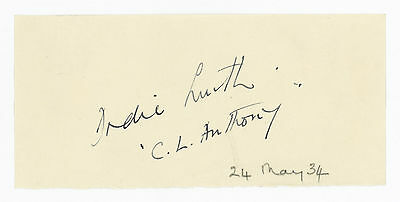 1934 | signature of DODIE SMITH | also signed CL Anthony | author 101 Dalmatians