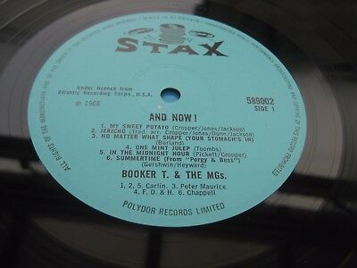 Booker T And The MG's AND NOW 1966 UK LP 1st Press MONO One Play MINT MINUS!!!