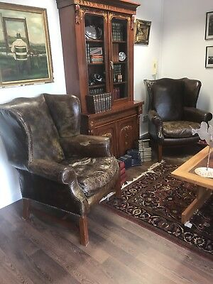 Superb Pair Of Tan Leather Country House Armchairs. Open To Offers.