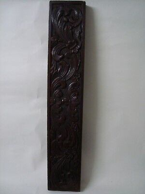 Long Carved Antique Wood Panel 'foliage'.