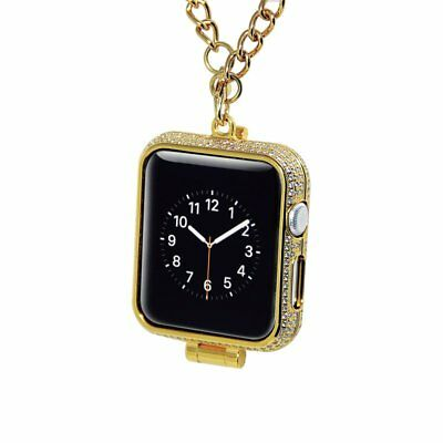 Apple watch Gold diamond protector case pocket watch cover