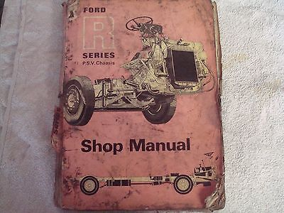 Ford R series PSV chassis commercial workshop manual