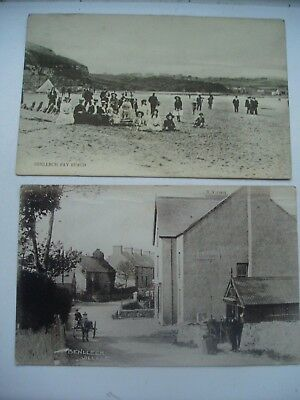 Benllech Village & Bay Anglesey 1916 2  Rp Cards People
