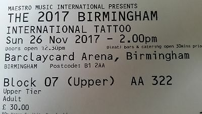 4 International Tattoo Tickets Family Day Out in November