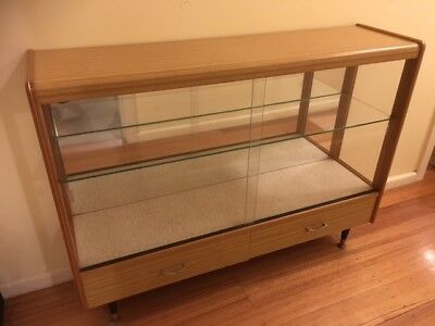 Classic Circa 1950 Timber and Glass Display Unit - Great Condition