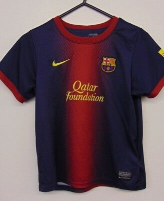 NIKE FC BARCELONA Football Shirt,  Home shirt,  Kids, 6/7 years.