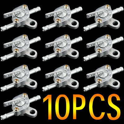 "10PCS 1/4"" Inline Oil Gas Fuel Tank Tap Filter Petcock Switch PIT Quad Dirt bike"