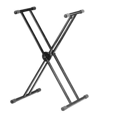 Soundlab G001XC Height Adjustable Twin X Frame Keyboard Stand with Quick Release