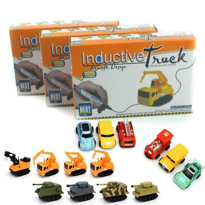 Original MINI Magic Pen Inductive Toy Truck Car Train Bus Tank Follow Any Line