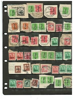New Zealand Interesting Range Used Early Official Stamps & Postmarks No. 1