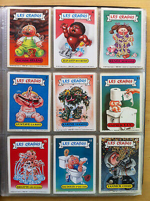 french CRADOS / garbage pail kids you pick one on 80 cards available