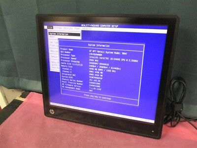"""HP RP7 17"""" Retail System Model 7800 i5-2400S 2.50ghz 4GB Ram POS Touch Screen!"""