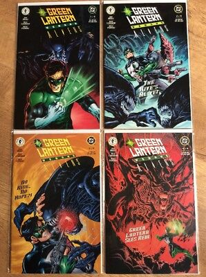GREEN LANTERN VS ALIENS 1 2 3 4 - 1st PRINT SET - DARK HORSE DC COMICS 2000