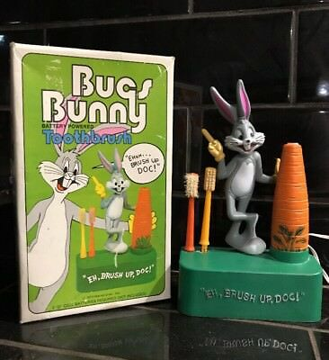 BUGS BUNNY Vintage Battery Powered Electric Toothbrush in Original Box 1973