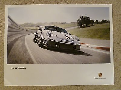"""2012 Porsche """"New"""" 911 GT3 Cup Showroom Advertising Poster RARE!! Awesome L@@K"""