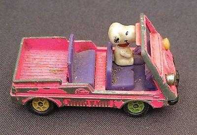 Vintage 1958 58 Snoopy Pink Car Aviva United Feature Syndicate In. No. 08