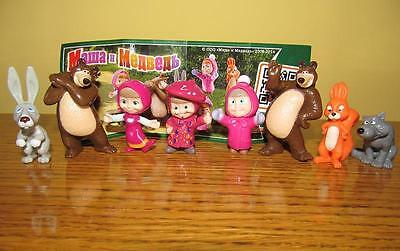 Kinder surprise egg set - Masha and the bear cartoon 8 figures toys collection