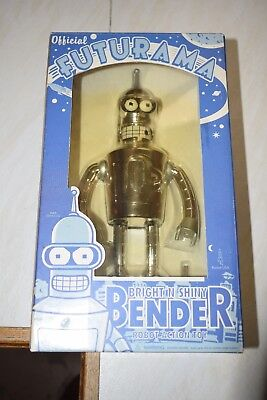 futurama bright n shiney bender wind up robot new and boxed