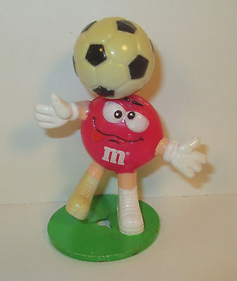 "2001 Silly Red M&M's w/ Soccer Player Ball on Head 2.75"" Plastic Figure"