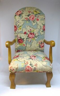 UPHOLSTERED ARM CHAIR Doll Furniture The Tender Art Collection  Floral Fabric
