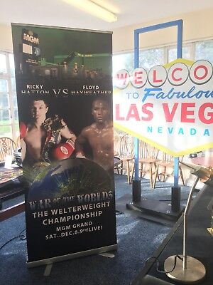 Pull Up Banner. Floyd Mayweather v Ricky Hatton. Las Vegas