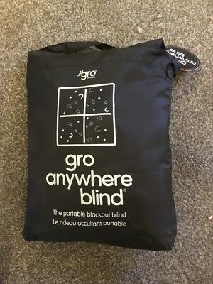 Gro Anywhere Travel Window Black Out Sun Blind, Velcro Travel Shade For Children