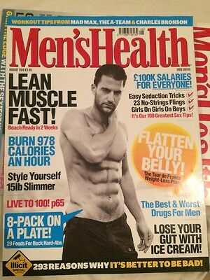 Men's Health Magazine August 2010 Bodybuilding Weightlifting
