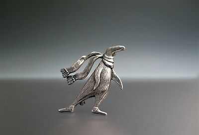 EDWARD GOREY Doubtful Guest Penguin Sterling Silver Brooch Pin