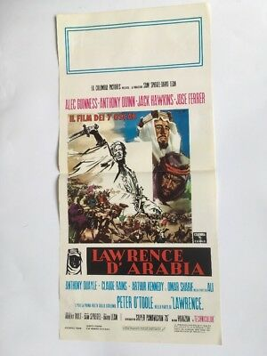 Original Lawrence Of Arabia Italian Poster 13 X 28 In. Great Imagery & Condition