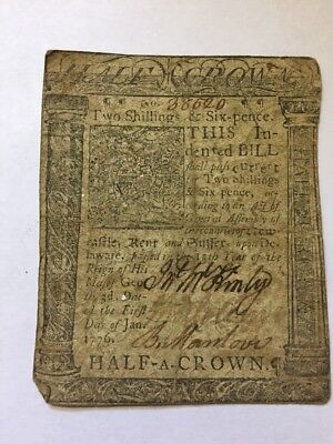 1775-1776 Colony Connecticut Colonial Currency Lot One Two Shillings Six Pence