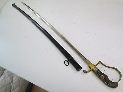 Wwi Wwii German Officers Sword With Scabbard Mint Blade Paweco Maker Ray Skin Gr