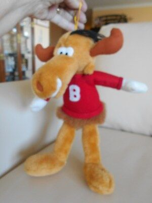 "Bullwinkle Plush W/Hanger, Hang Tag, 1991, Licensed Ward, 14"", EUC, So Cute!"