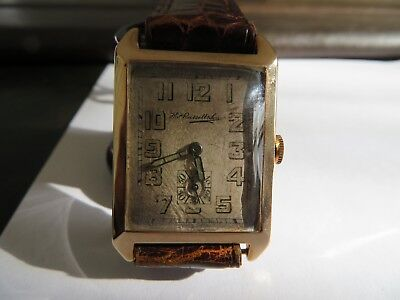 vintage wristwatch THOS. RUSSEL & SON 9ct gold 1930