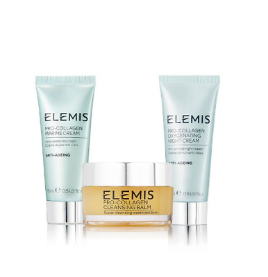 Elemis Pro-Collagen Cleansing Balm 20g / Oxygenating Night & Marine Cream 15ml