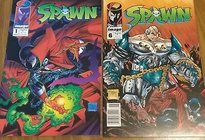 Spawn issues 1 and 6, First Prints, Todd McFarlane, VF+