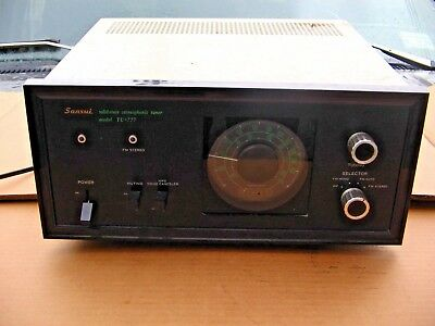 Vintage Sansui TU-777 Solid-State Stereophonic Tuner Unested Parts Repair