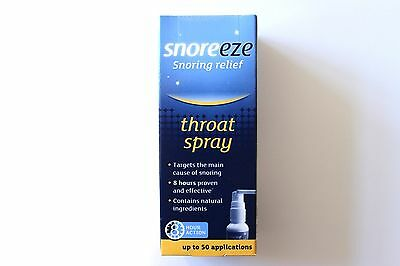 Snoreeze Snoring Relief Throat Spray 8 Hour Action - 50 Applications
