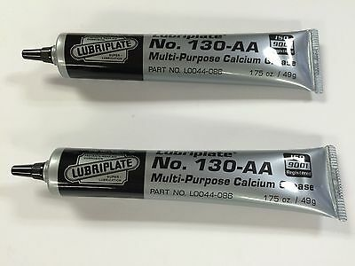 Lubriplate No.130-AA Grease, 1.75 oz Tubes, Lot Of 2, Excellent Rifle Grease