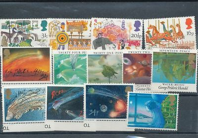 GB QE Space Christmas MNH (13 Stamps) Face Postage 3+ Pounds ( Ag1594s