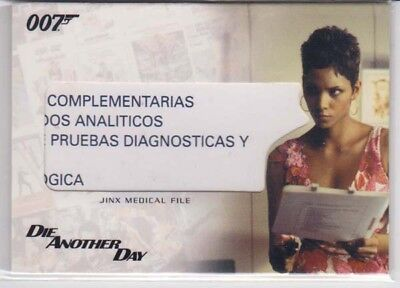 Die Another Day Prop 007 James Bond Rittenhouse Relic Card Rc11 Jinx Medicalfile