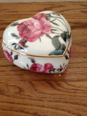 Romantic Goebel for the Smithsonian Rose & Gold Trinket Box:Rare, Collectable!