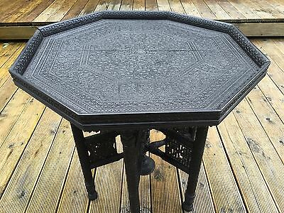 Rare Anglo Indian Ebony Occasional Table/Islamic Occasional Table