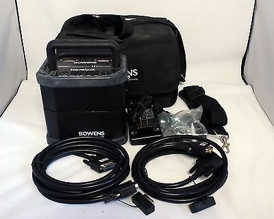 Bowens Travelpak Battery Pack BW-7692 portable power supply cables Gemini