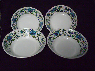 Vintage Set of Four Midwinter Spanish Garden Cereal Bowls *VGC*