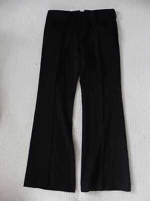 Vintage Gucci 100% Wool Flare Black Trousers. IT 52 R, UK 36 R